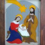 Betlém – podmalba na skle z dílny Jany Sojkové