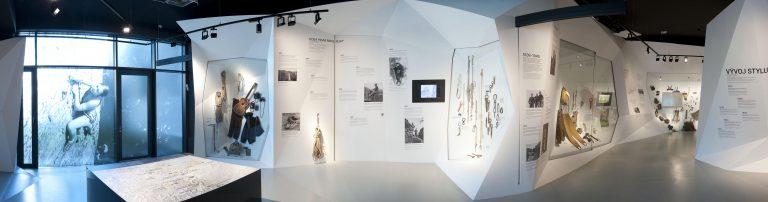 Expozice Horolezecví – Z Českého ráje na vrcholy světa (interiér expozice) Foto: Matěj Bárta