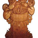 Dřevořezba Pouštění lodiček