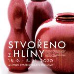 Plakát výstavy Stvořeno z hlíny – Ze sbírek Muzea keramiky v Boleslavci