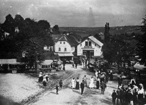 Pouťové stánky 1914-1918