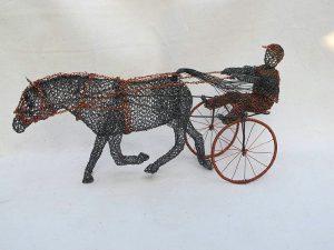 Žokej a kůň, autor: Ladislav Šlechta – dráteník